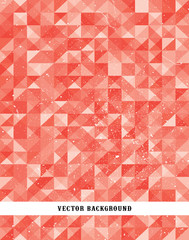 An abstract pixel style vector background with a grunge texture