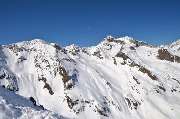 Alpine ski resort in Sölden in Otztal Alps, Tirol, Austria