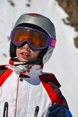 Young skier on Tyrolean Alps