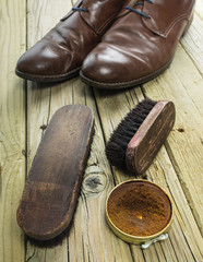 shoes and shoe polish