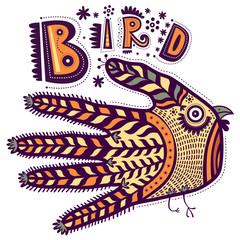 Decorative bird shaped hand