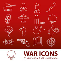 war outline icons
