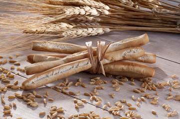 Group of breadsticks