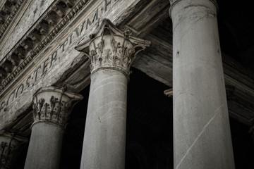 Pantheon of Agripa Pillars in Rome, Italy