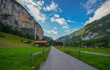 Amazing view of Lauterbrunnen valley, Switzerland