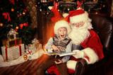 kid and santa