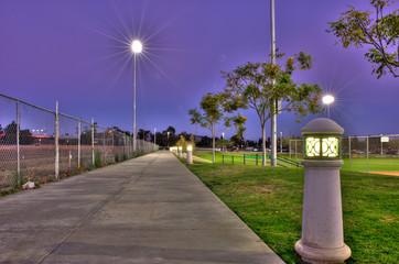Contrasting sides under the park lights