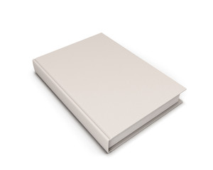 Blank White Book.