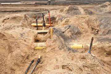 Bauarbeiten - Neue Rohre für die Gas- und Wasserversorgung