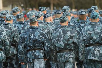 Dress rehearsal of Military Parade in Vologda