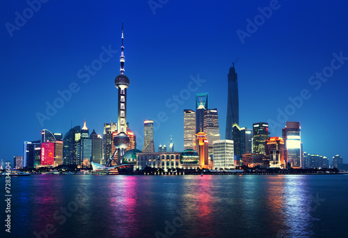 Papiers peints Chine Shanghai at night, China