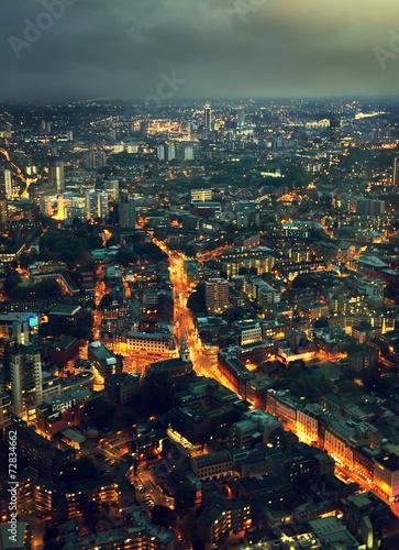 Deurstickers Amsterdam night London, UK