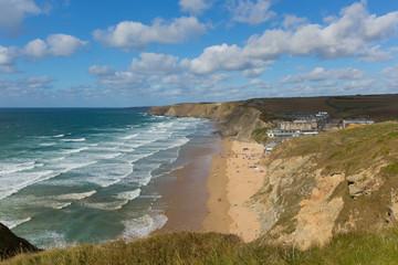 Cornish north coast Watergate Bay Cornwall England UK