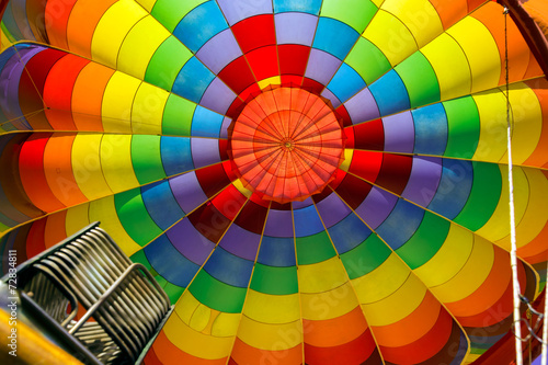 Inside of colorful hot air balloon - 72834811