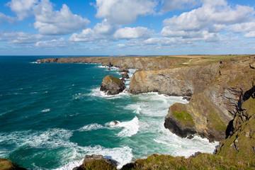Bedruthan Steps Cornwall England UK near Newquay