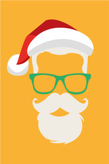 Santa Claus Hipster 2015 vector