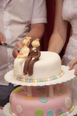 Украшение свадебного торта, жених и невеста