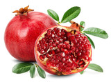 pomegranate isolated on the white background poster