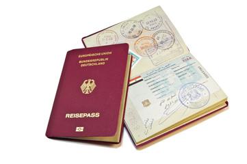 Close-up of a German Passport