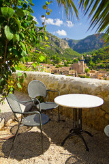Beautiful view of Valldemossa city, Mallorca, Spain