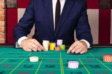 Male at casino