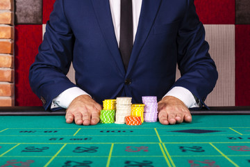 Man betting all in