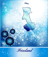 Karte von Friesland