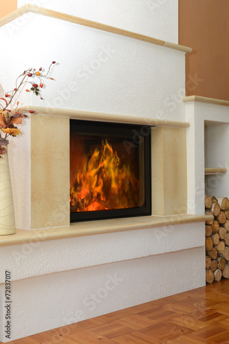 canvas print picture Kamin 25