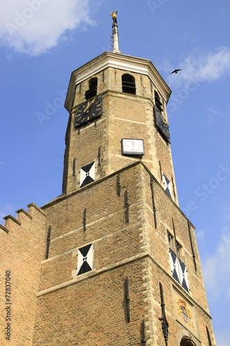 canvas print picture Turm des Rathauses in Willemstad