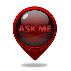 ask me pointer icon on white background