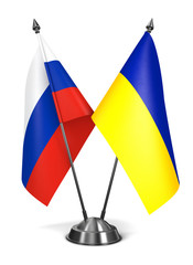 Russia and Ukraine - Miniature Flags.