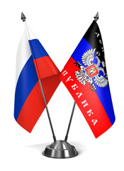 Russia and Donetsk People's Republic - Miniature Flags.
