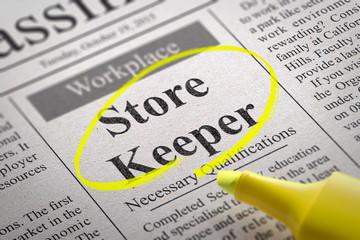 Store Keeper Vacancy in Newspaper.