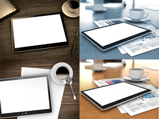 Tablet PC on Table.