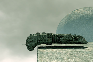 Scifi spaceship