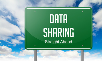 Data Sharing on Highway Signpost.