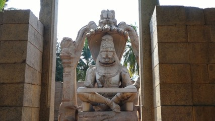 Hanuman statue in Hampi in India