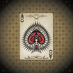 Ace of spades poker card old look