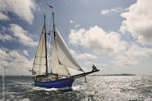 Foto op Canvas Zeilen Yacht Sailing. Collection of ships and yachts