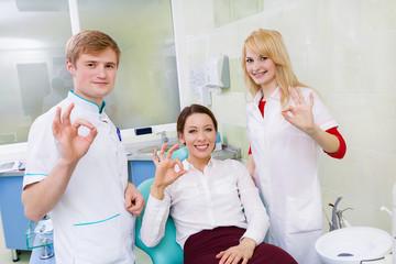 happy healthcare professional dentist satisfied patient