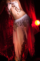 Beautiful girl dancer of Arabic dance