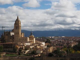 Vista aerea de Segovia en Otoño