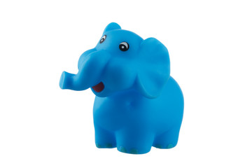 Blue elephant isolated on white
