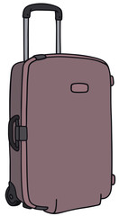 Hand drawing of a suitcase on wheels
