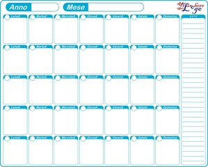 PLANNER PLANNING CALENDARIO DA TAVOLO MENSILE MODIFICABILE