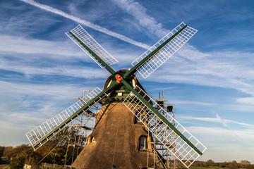 Die Mühle Charlotte in der Geltinger Birg wird renoviert.