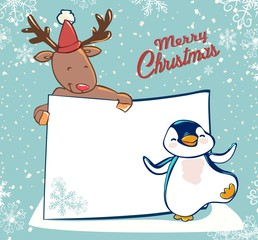 banner card christmas