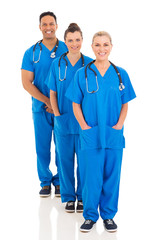 group of medical team standing in a row