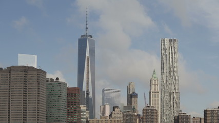 Time lapse zoom out Manhattan skyline