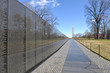 Vietnam War Memorial with Lincoln Memorial in Background - 72843438